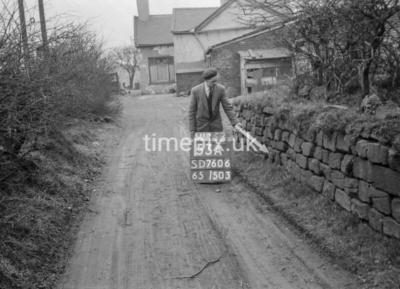 SD760653A, Ordnance Survey Revision Point photograph in Greater Manchester