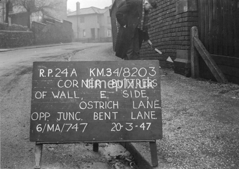 SD820324A, Ordnance Survey Revision Point photograph in Greater Manchester