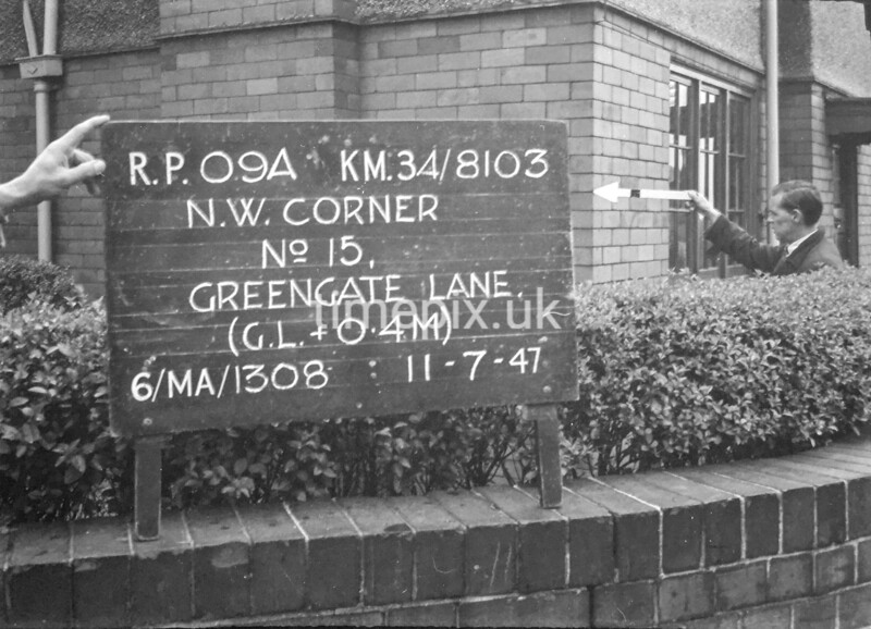 SD810309A, Ordnance Survey Revision Point photograph in Greater Manchester