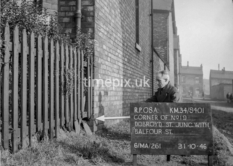 SD840108a, Ordnance Survey Revision Point photograph in Greater Manchester
