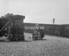 SD730177A, Man marking Ordnance Survey minor control revision point with an arrow in 1940s