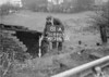 SD690381A, Man marking Ordnance Survey minor control revision point with an arrow in 1950s