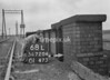 SD720468L, Man marking Ordnance Survey minor control revision point with an arrow in 1950s