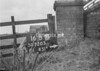 SD720516B, Man marking Ordnance Survey minor control revision point with an arrow in 1950s