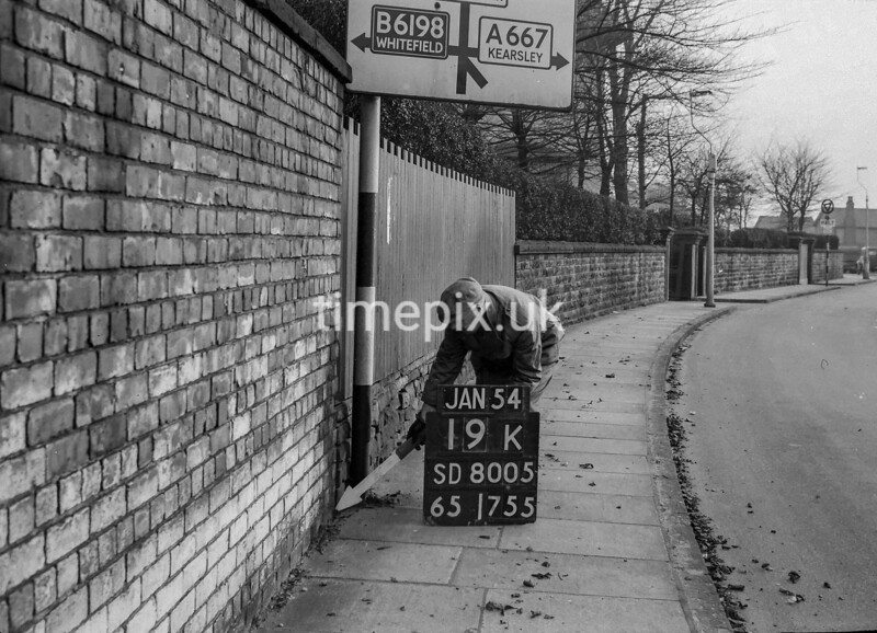SD800519K, Ordnance Survey Revision Point photograph in Greater Manchester