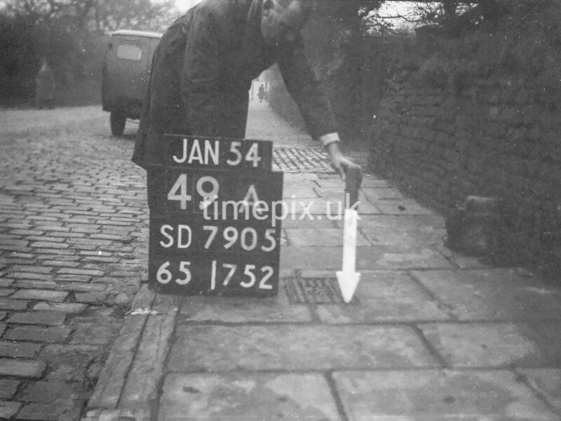 SD790549A, Ordnance Survey Revision Point photograph in Greater Manchester