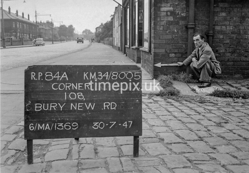 SD800584A, Ordnance Survey Revision Point photograph in Greater Manchester