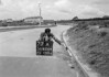 SD620477A, Man marking Ordnance Survey minor control revision point with an arrow in 1940s