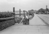 SD620580B, Man marking Ordnance Survey minor control revision point with an arrow in 1940s