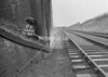 SD640517K, Man marking Ordnance Survey minor control revision point with an arrow in 1950s