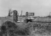 SD640976A, Man marking Ordnance Survey minor control revision point with an arrow in 1940s