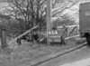 SD640445A, Man marking Ordnance Survey minor control revision point with an arrow in 1940s