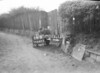SD640566B, Man marking Ordnance Survey minor control revision point with an arrow in 1950s