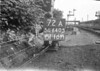 SD640572A, Man marking Ordnance Survey minor control revision point with an arrow in 1940s