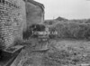 SD640506B, Man marking Ordnance Survey minor control revision point with an arrow in 1950s