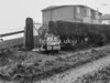 SD640999B, Man marking Ordnance Survey minor control revision point with an arrow in 1940s
