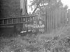 SD640521B, Man marking Ordnance Survey minor control revision point with an arrow in 1940s