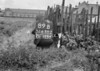 SD630289B, Man marking Ordnance Survey minor control revision point with an arrow in 1940s