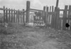 SD630294A, Man marking Ordnance Survey minor control revision point with an arrow in 1940s