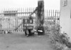SD630311B, Man marking Ordnance Survey minor control revision point with an arrow in 1940s