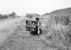 SD630379A, Man marking Ordnance Survey minor control revision point with an arrow in 1940s