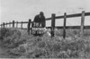 SD650338A, Man marking Ordnance Survey minor control revision point with an arrow in 1940s