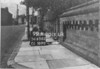 SD650299A, Man marking Ordnance Survey minor control revision point with an arrow in 1940s