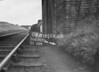 SD630208B, Man marking Ordnance Survey minor control revision point with an arrow in 1940s