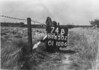 SD650274B, Man marking Ordnance Survey minor control revision point with an arrow in 1940s