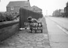 SD630373B, Man marking Ordnance Survey minor control revision point with an arrow in 1940s