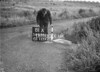 SD630181A, Man marking Ordnance Survey minor control revision point with an arrow in 1940s