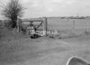 SD630145A, Man marking Ordnance Survey minor control revision point with an arrow in 1950s