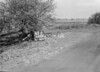SD630147B, Man marking Ordnance Survey minor control revision point with an arrow in 1950s