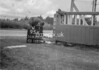 SD630295K, Man marking Ordnance Survey minor control revision point with an arrow in 1940s