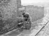 SD590529K, Man marking Ordnance Survey minor control revision point with an arrow in 1950s