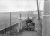 SD590383L, Man marking Ordnance Survey minor control revision point with an arrow in 1950s
