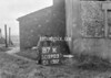SD590387K, Man marking Ordnance Survey minor control revision point with an arrow in 1950s