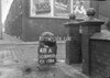SD590348A, Man marking Ordnance Survey minor control revision point with an arrow in 1950s