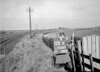 SD600303A, Man marking Ordnance Survey minor control revision point with an arrow in 1950s