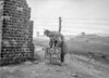 SD590510B, Man marking Ordnance Survey minor control revision point with an arrow in 1950s