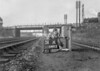 SD590351A, Man marking Ordnance Survey minor control revision point with an arrow in 1950s