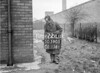 SD590572L, Man marking Ordnance Survey minor control revision point with an arrow in 1950s