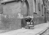 SD590354B, Man marking Ordnance Survey minor control revision point with an arrow in 1950s