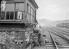 SD590639L, Man marking Ordnance Survey minor control revision point with an arrow in 1950s
