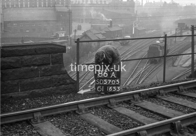 SD570586A, Ordnance Survey Revision Point photograph in Wigan