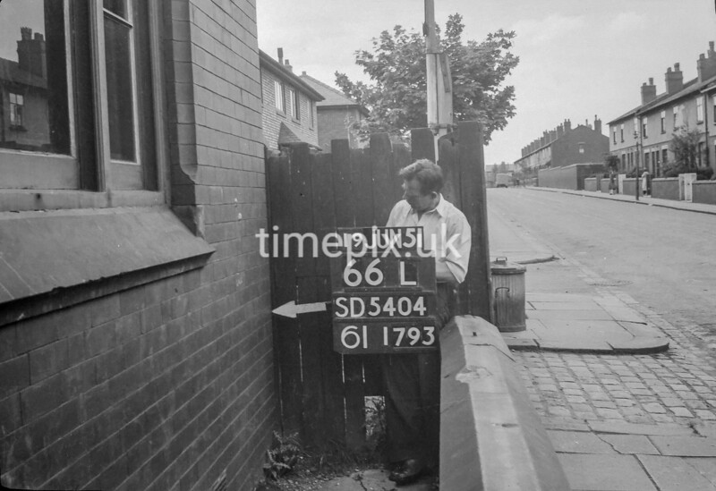 SD540466L, Ordnance Survey Revision Point photograph in Greater Manchester