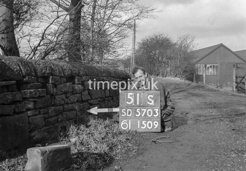 SD570351S, Ordnance Survey Revision Point photograph in Greater Manchester