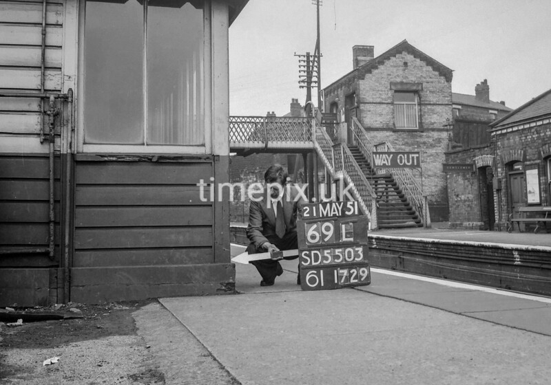SD550369L, Ordnance Survey Revision Point photograph in Greater Manchester