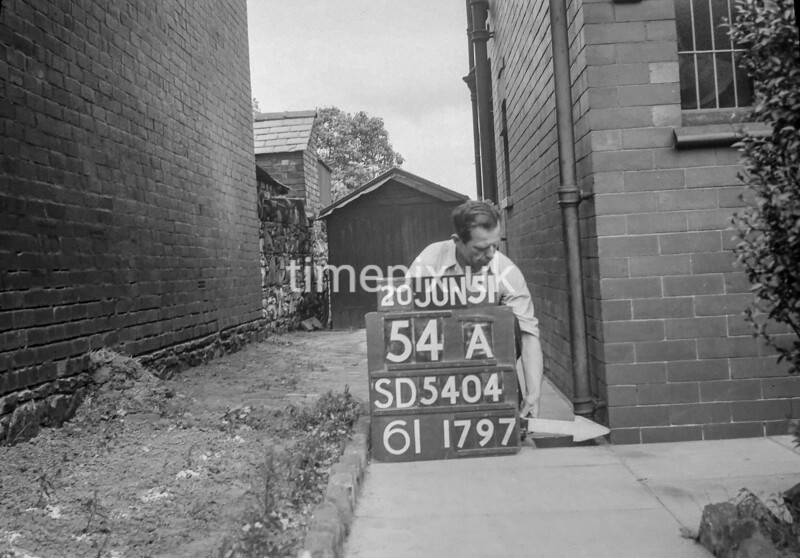 SD540454A, Ordnance Survey Revision Point photograph in Greater Manchester