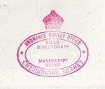 OS stamp Manuscript Store red